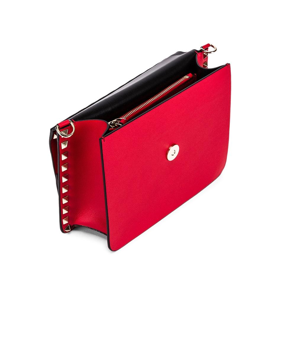 Image 5 of Valentino Rockstud Crossbody Camera Bag in Red