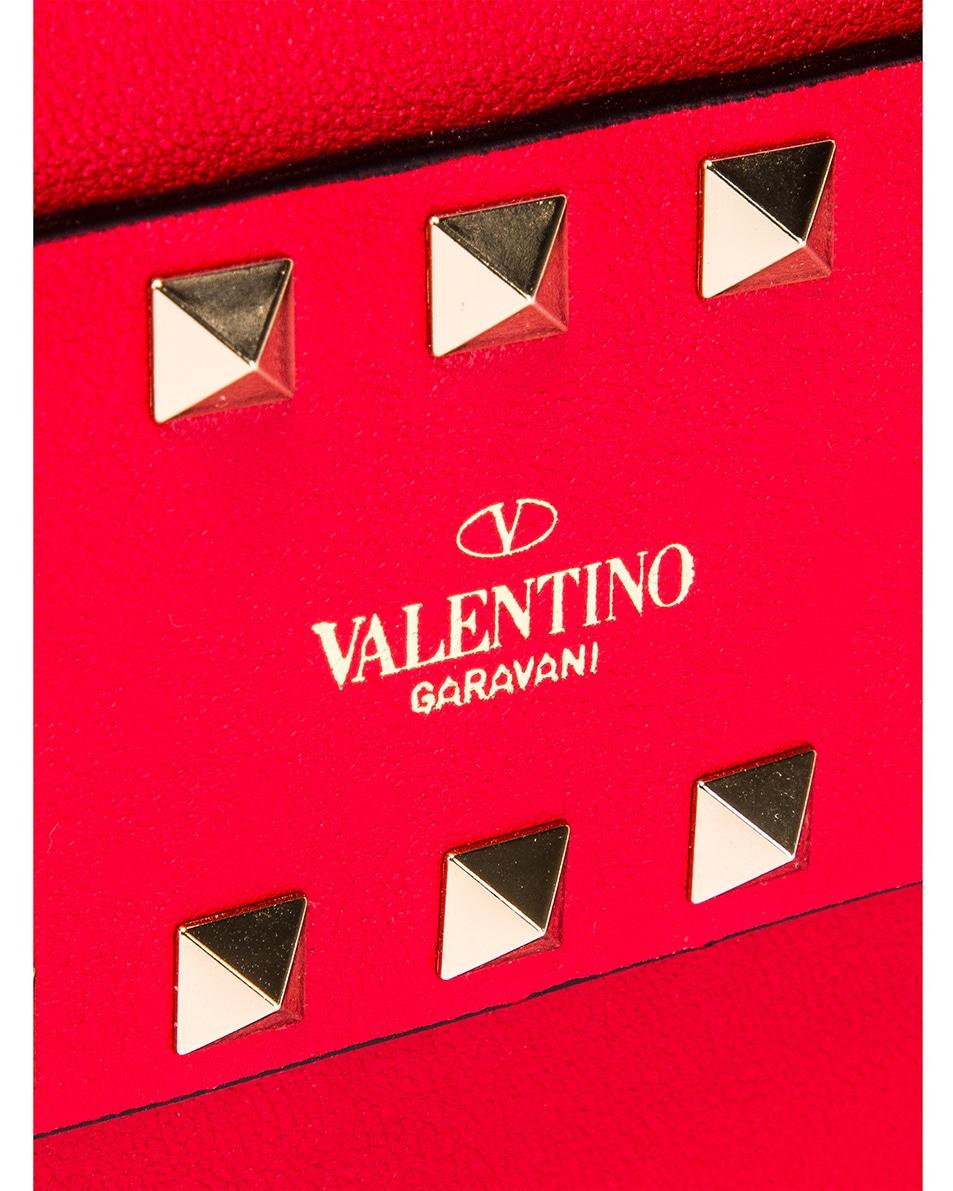 Image 8 of Valentino Rockstud Crossbody Camera Bag in Red