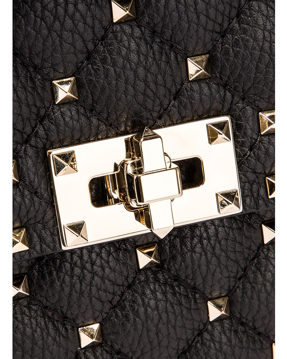 Image 8 of Valentino Rockstud Spike Crossbody Bag in Black & Red & White