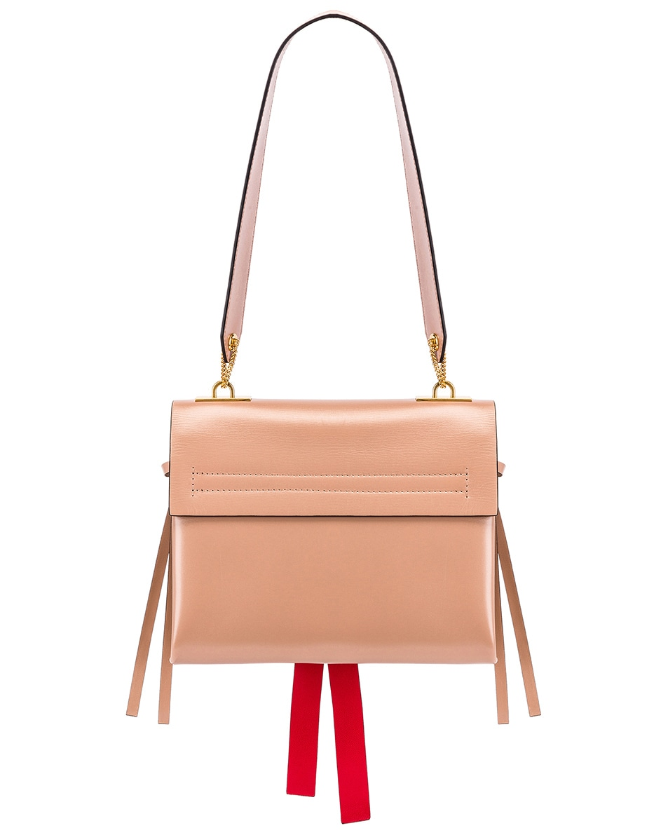 Image 3 of Valentino VLogo Ribbon Shoulder Bag in Rose & Red
