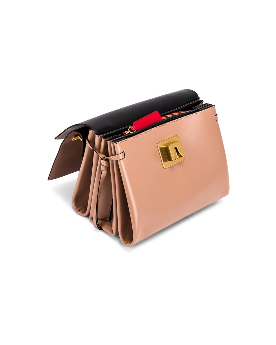 Image 5 of Valentino VLogo Ribbon Shoulder Bag in Rose & Red