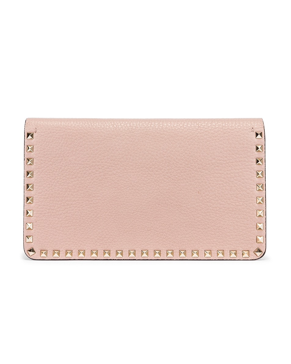 Image 3 of Valentino Rockstud Clutch in Poudre