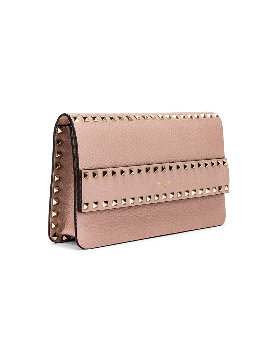 Image 4 of Valentino Rockstud Clutch in Poudre