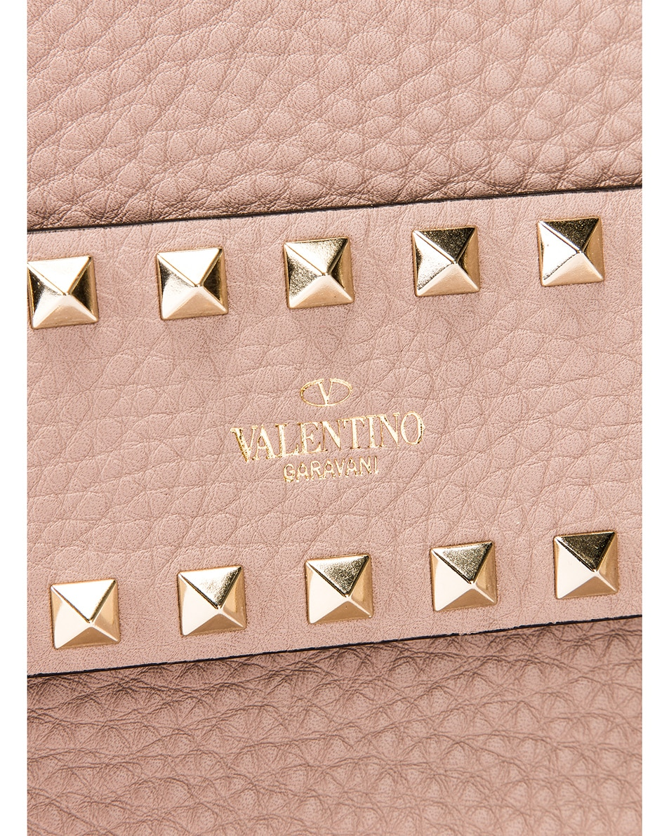 Image 7 of Valentino Rockstud Clutch in Poudre