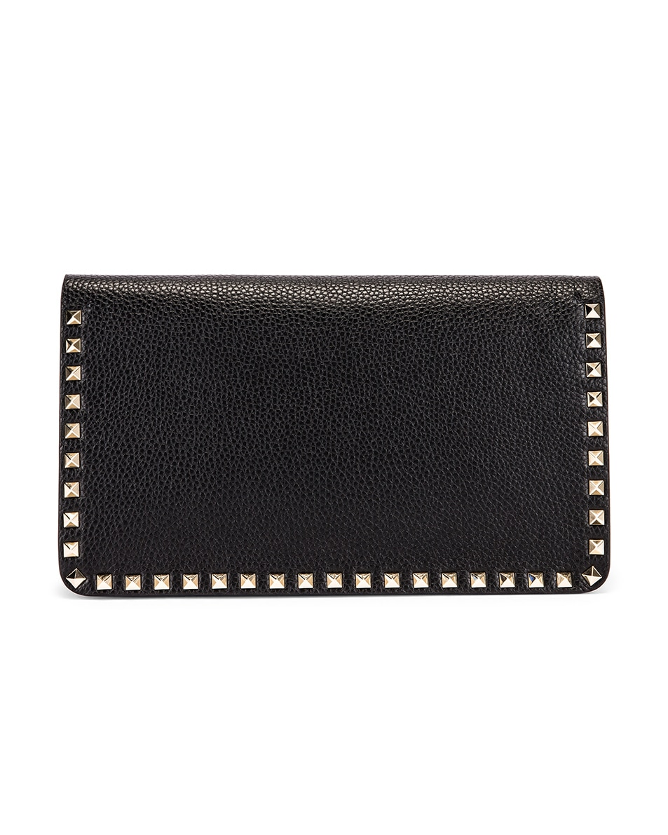 Image 3 of Valentino Rockstud Clutch in Black