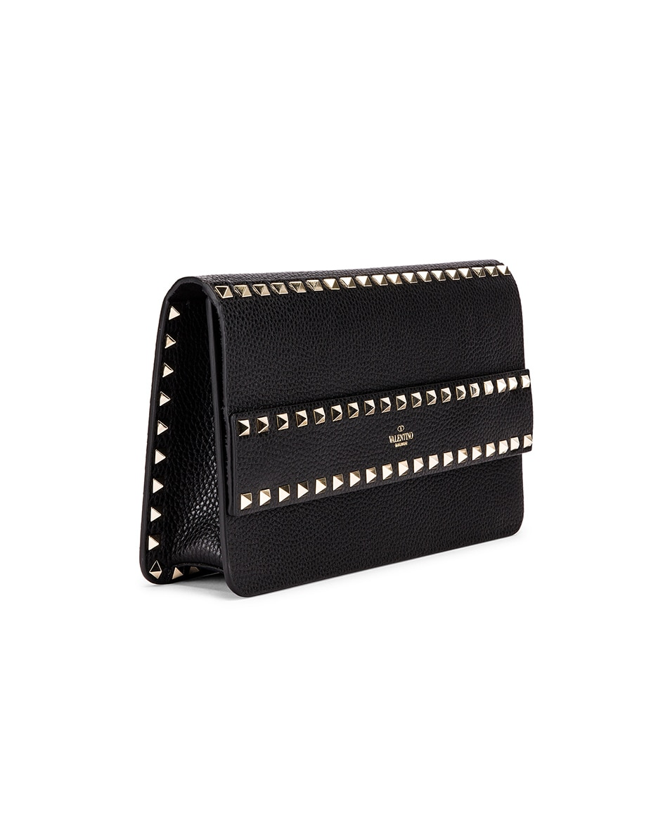 Image 4 of Valentino Rockstud Clutch in Black