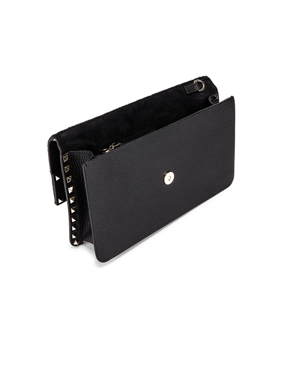 Image 5 of Valentino Rockstud Clutch in Black