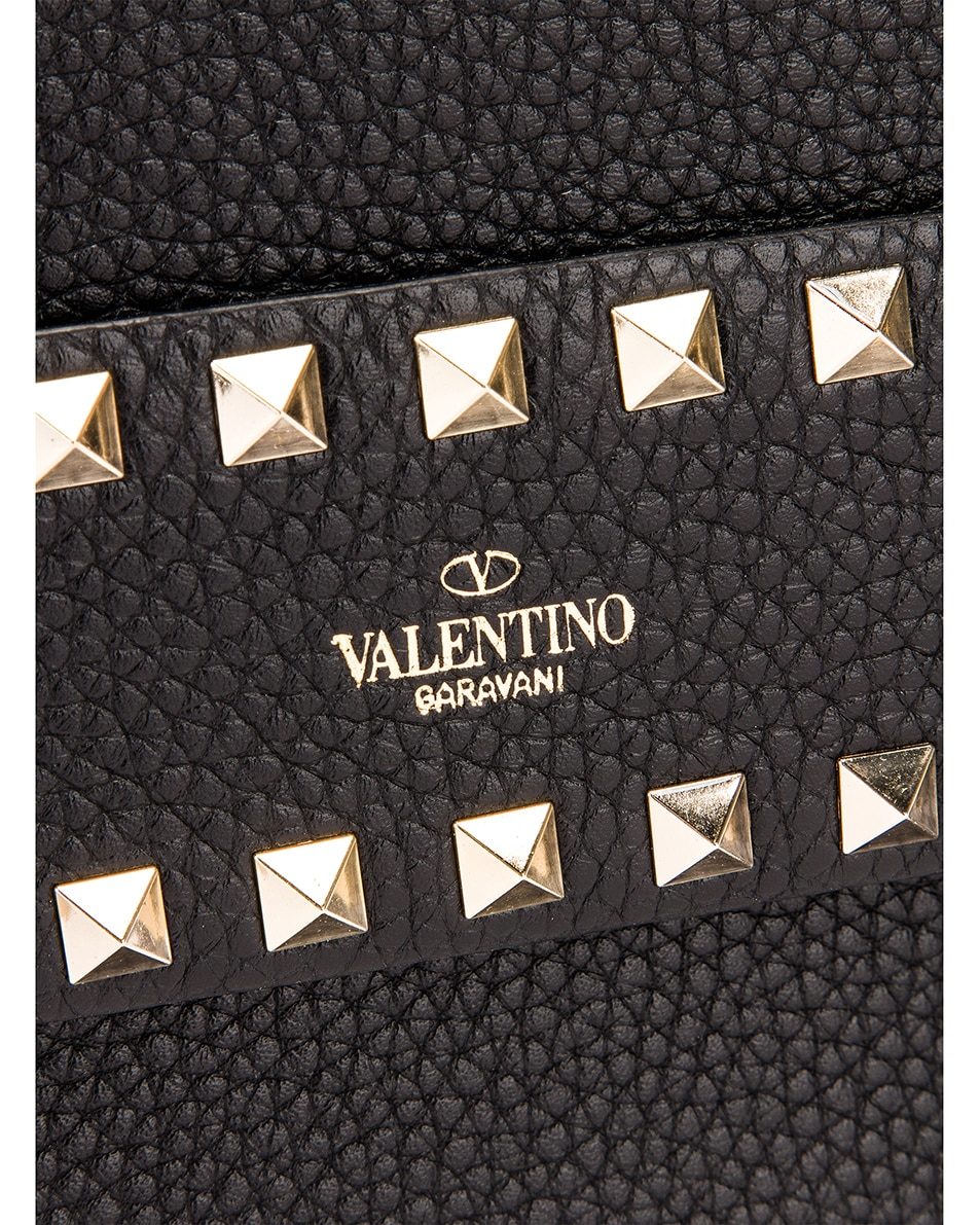 Image 7 of Valentino Rockstud Clutch in Black
