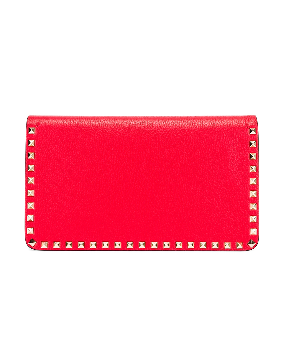 Image 3 of Valentino Rockstud Clutch in Red