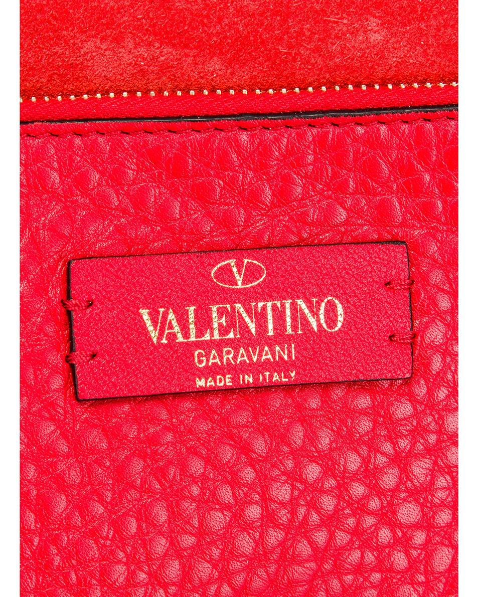 Image 6 of Valentino Rockstud Clutch in Red