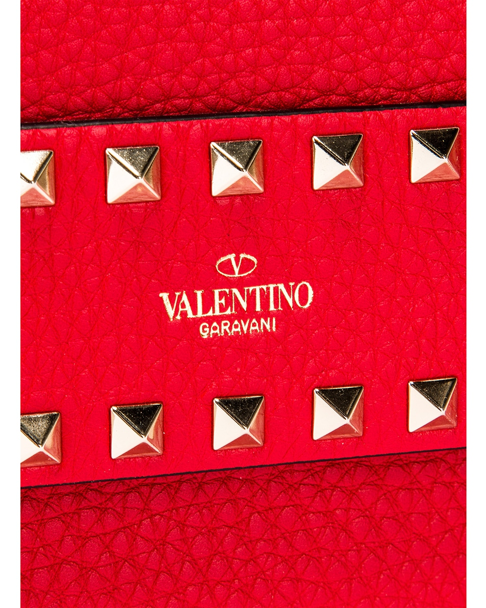 Image 7 of Valentino Rockstud Clutch in Red