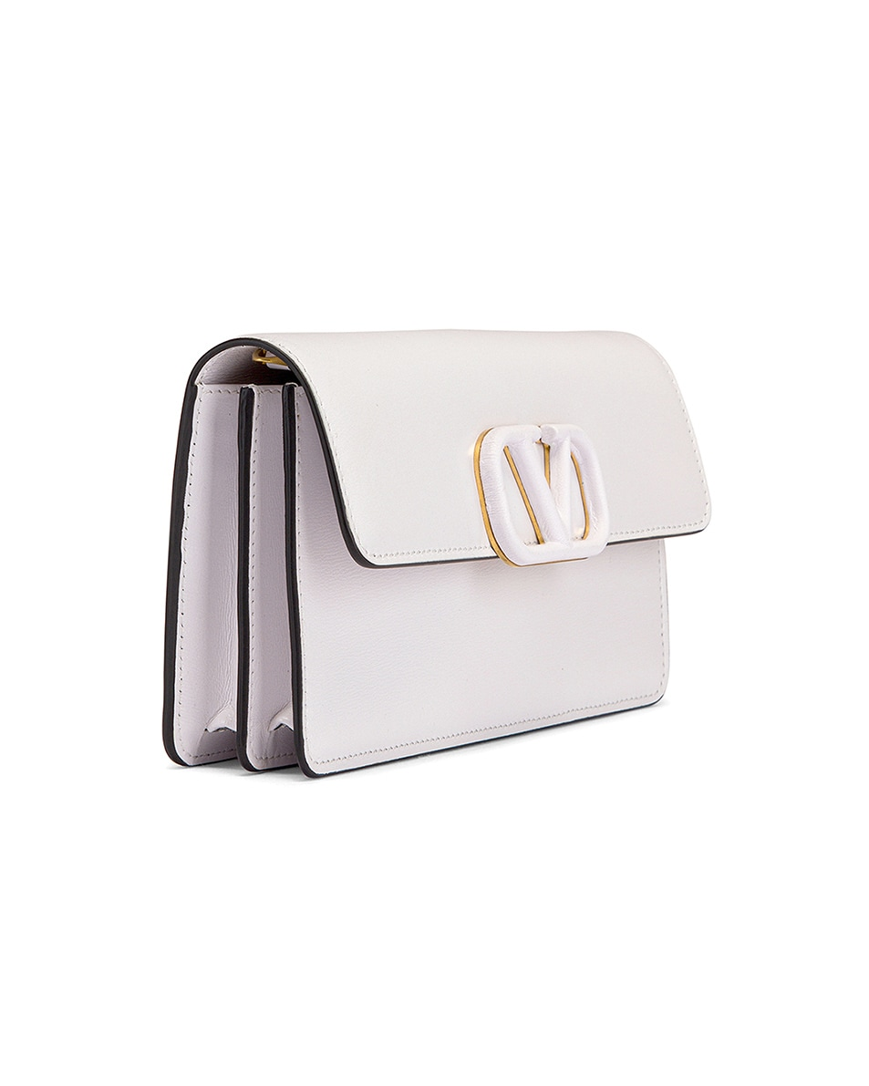Image 4 of Valentino VSling Wallet on Chain Bag in Bianco Ottico