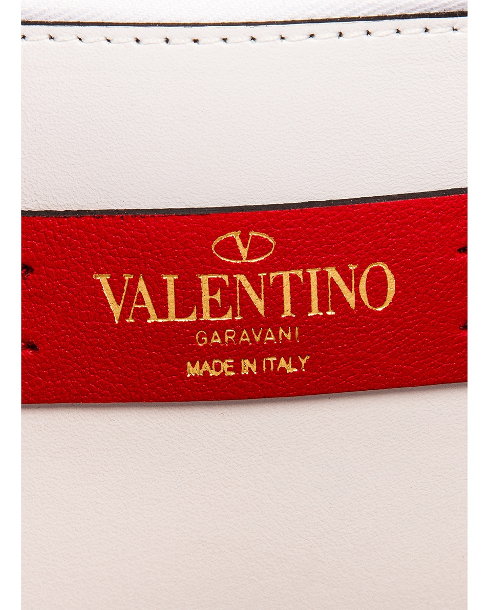 Image 7 of Valentino VSling Wallet on Chain Bag in Bianco Ottico
