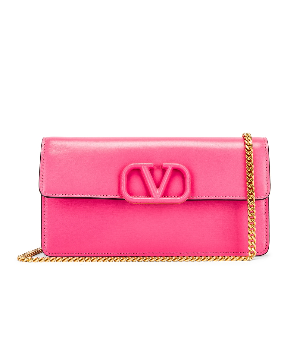 Image 1 of Valentino VSling Wallet on Chain Bag in Mac Rose