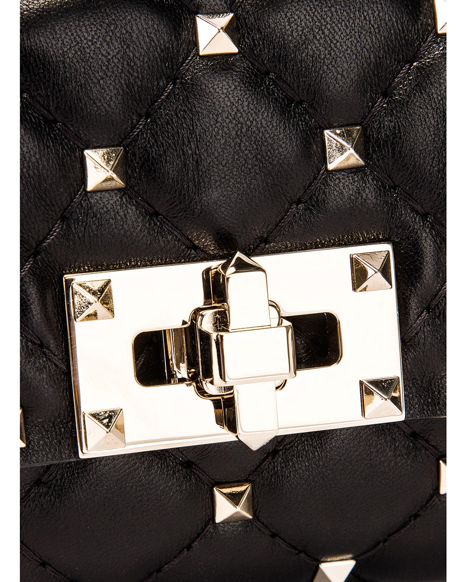 Image 6 of Valentino Rockstud Spike Belt Bag in Black