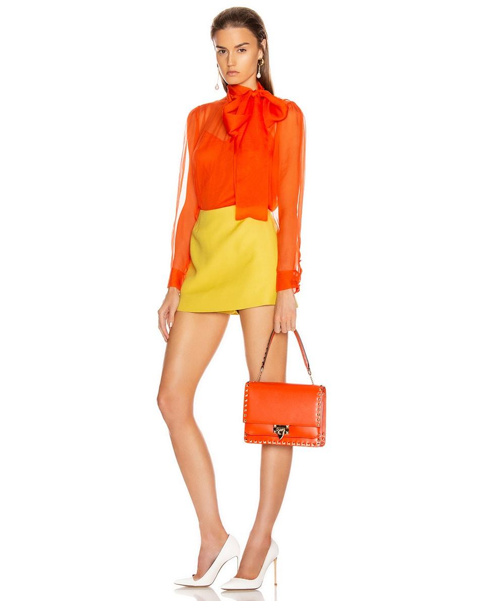 Image 2 of Valentino Rockstud Shoulder Bag in Goldfish