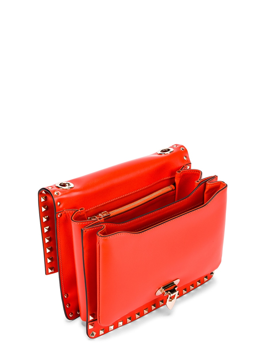 Image 5 of Valentino Rockstud Shoulder Bag in Goldfish