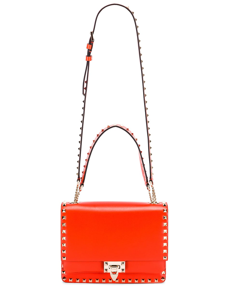 Image 6 of Valentino Rockstud Shoulder Bag in Goldfish