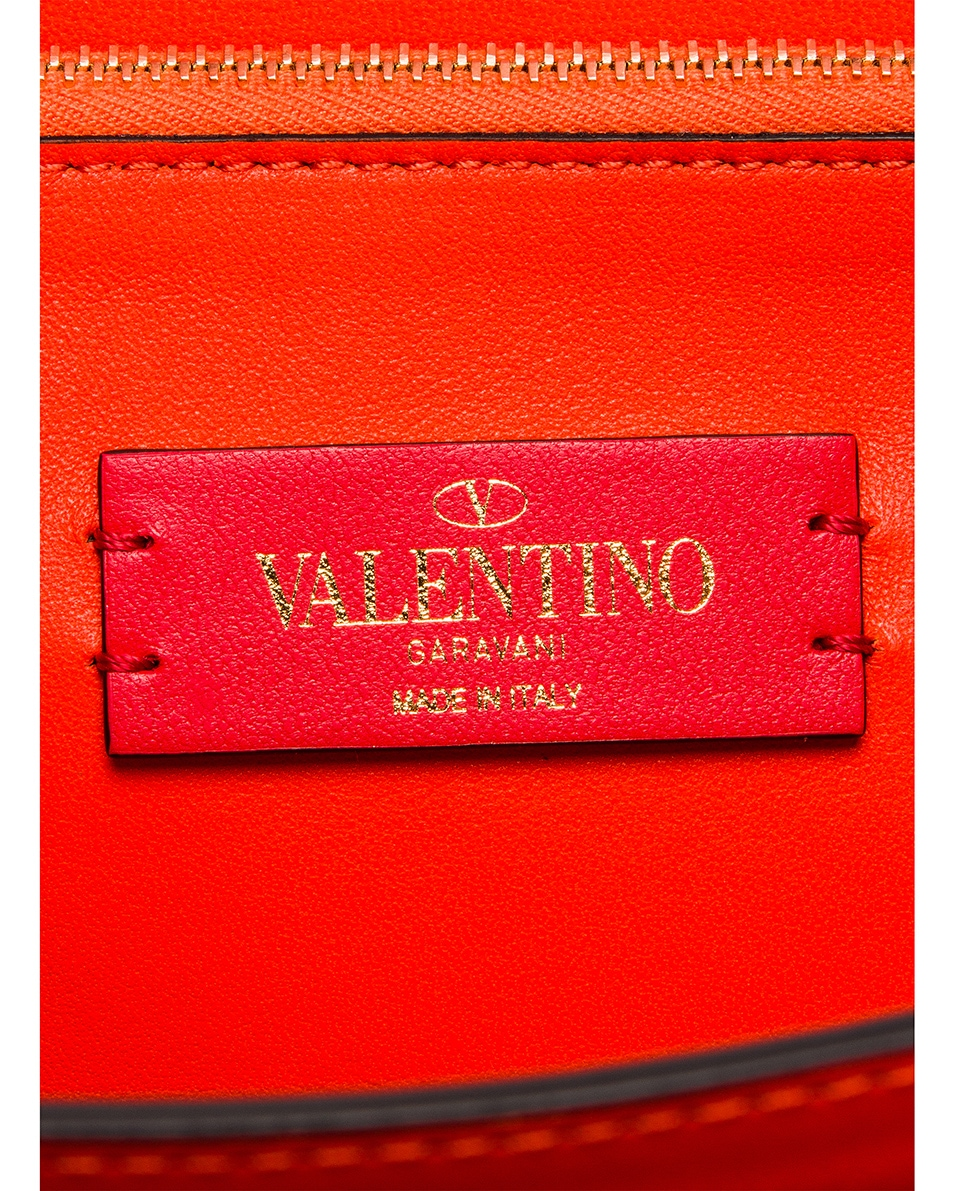 Image 7 of Valentino Rockstud Shoulder Bag in Goldfish