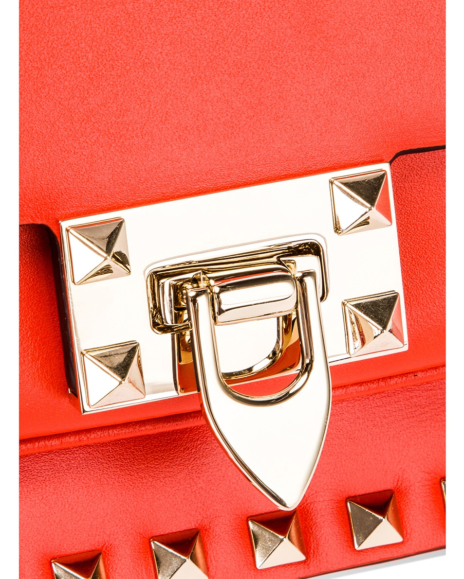 Image 8 of Valentino Rockstud Shoulder Bag in Goldfish
