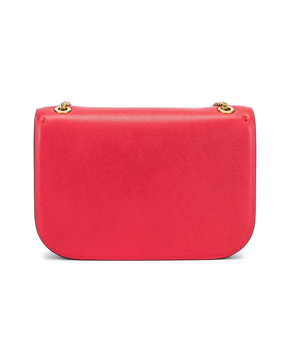 Image 3 of Valentino Small VSling Chain Shoulder Bag in Rock Pink & Rouge Pur