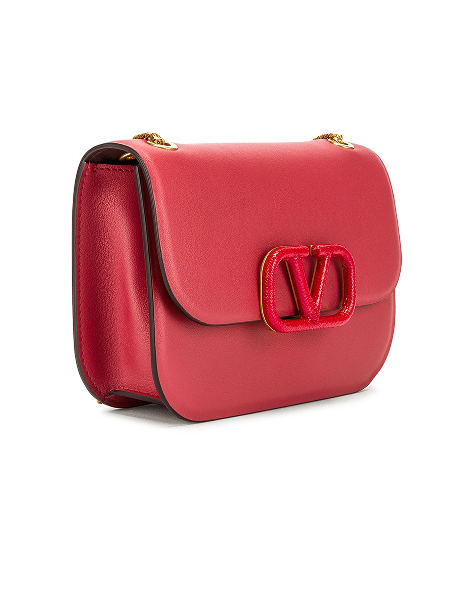 Image 4 of Valentino Small VSling Chain Shoulder Bag in Rock Pink & Rouge Pur