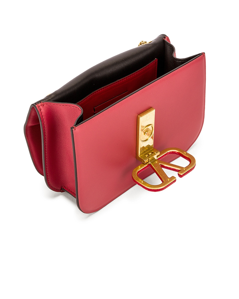 Image 5 of Valentino Small VSling Chain Shoulder Bag in Rock Pink & Rouge Pur