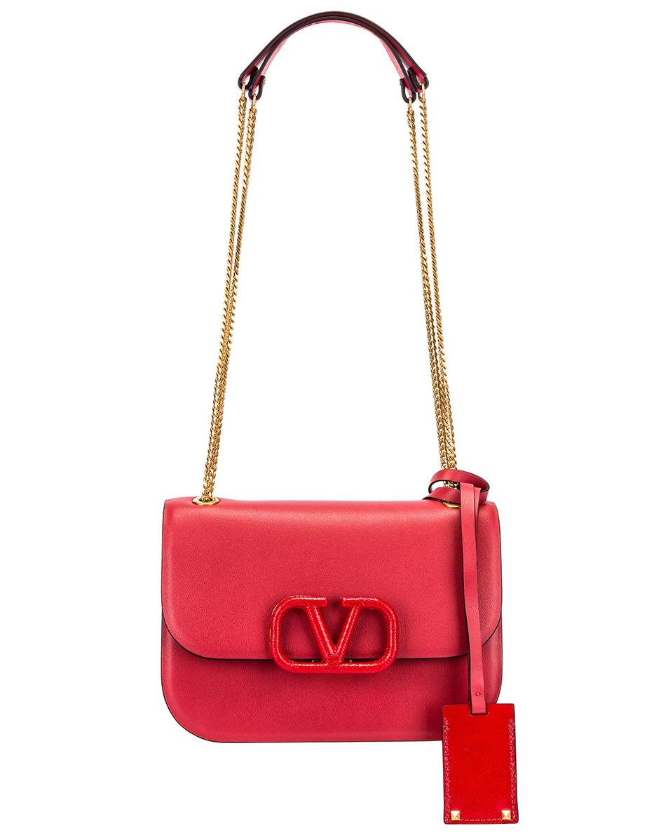 Image 6 of Valentino Small VSling Chain Shoulder Bag in Rock Pink & Rouge Pur