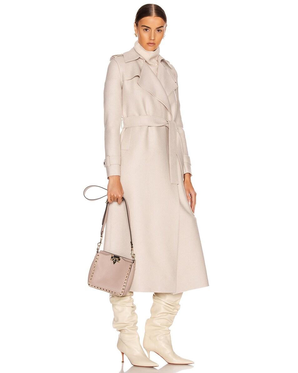 Image 2 of Valentino Mini Rockstud Hobo Bag in Poudre