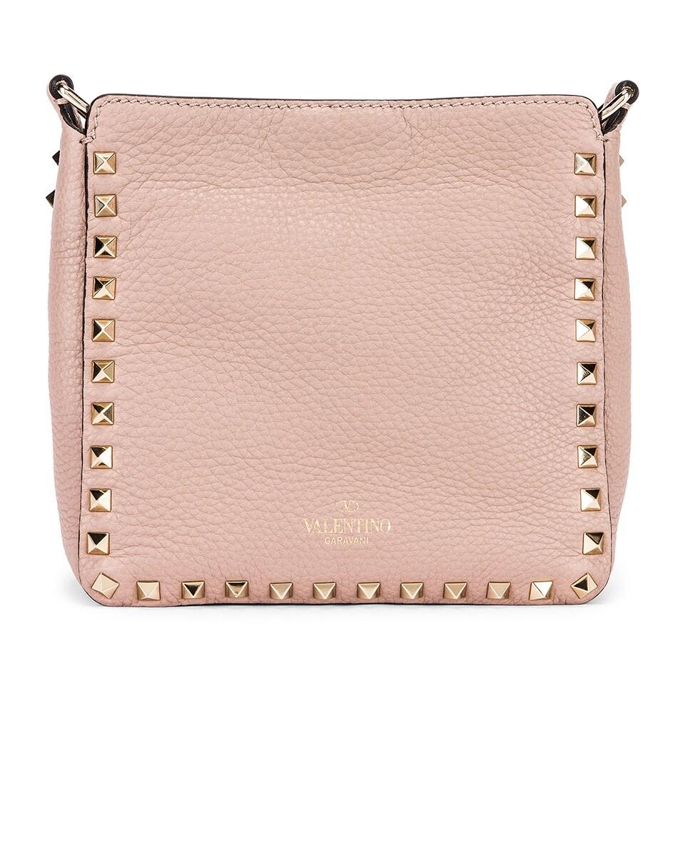 Image 3 of Valentino Mini Rockstud Hobo Bag in Poudre