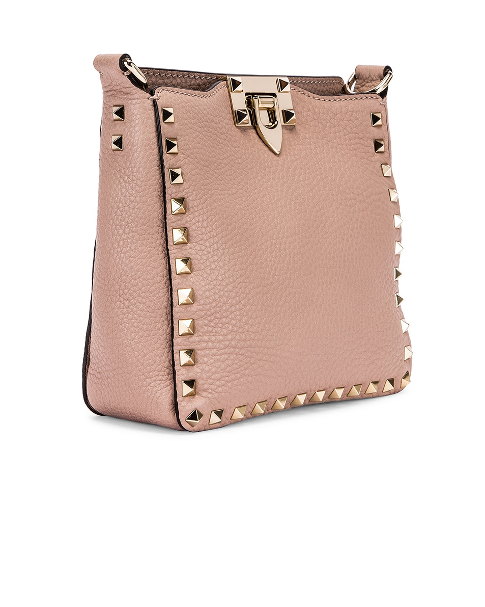 Image 4 of Valentino Mini Rockstud Hobo Bag in Poudre