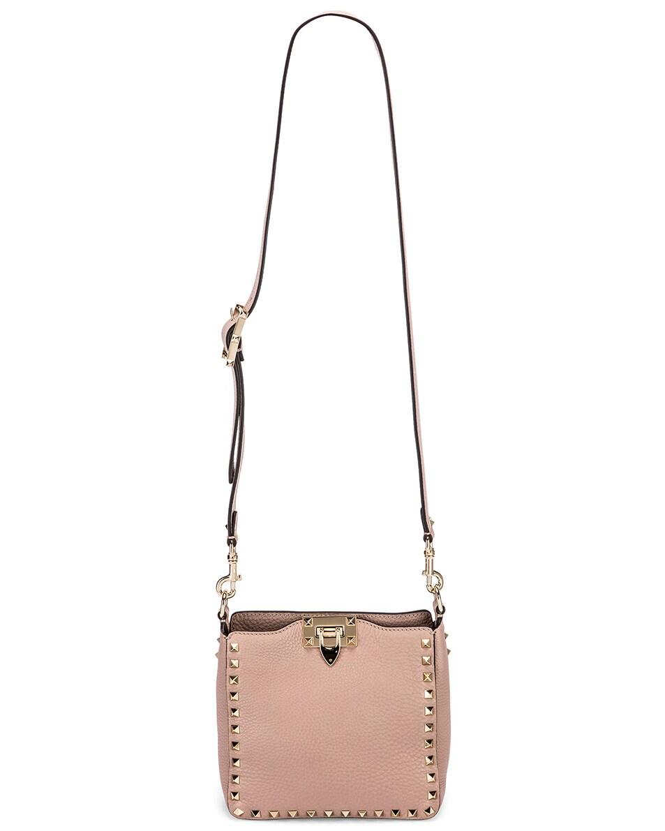 Image 6 of Valentino Mini Rockstud Hobo Bag in Poudre