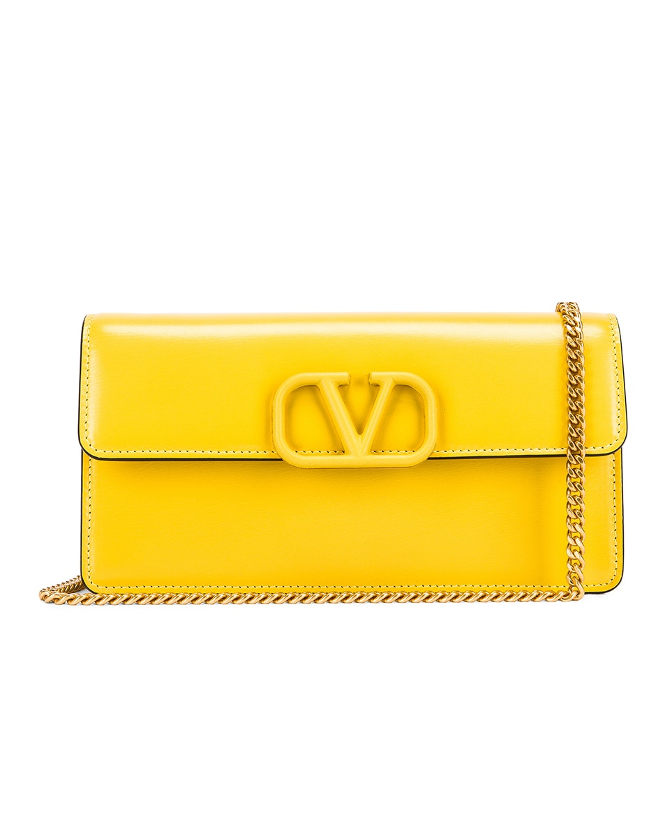 Image 1 of Valentino VSling Wallet on Chain Bag in Tulip