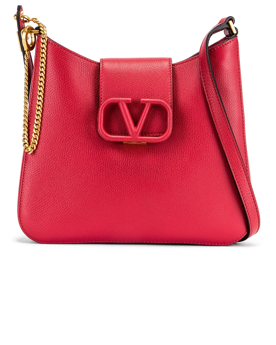 Image 1 of Valentino Small VSling Hobo Bag in Rock Pink & Rose Cannelle
