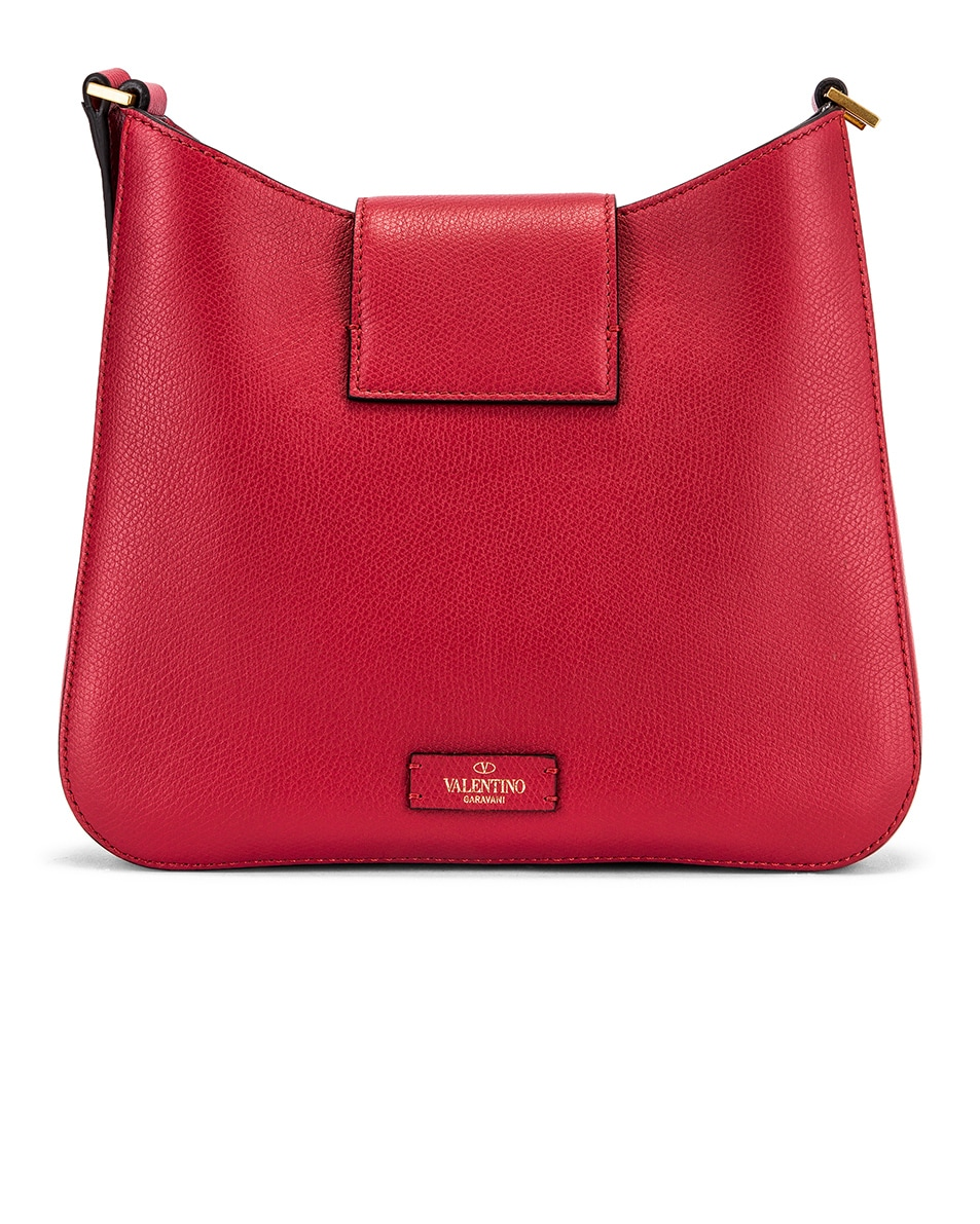 Image 3 of Valentino Small VSling Hobo Bag in Rock Pink & Rose Cannelle