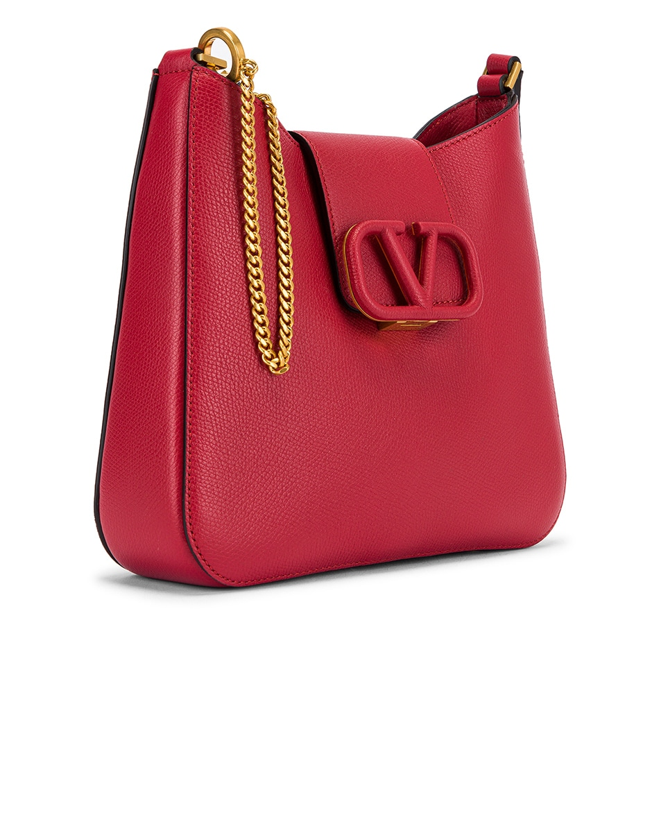 Image 4 of Valentino Small VSling Hobo Bag in Rock Pink & Rose Cannelle