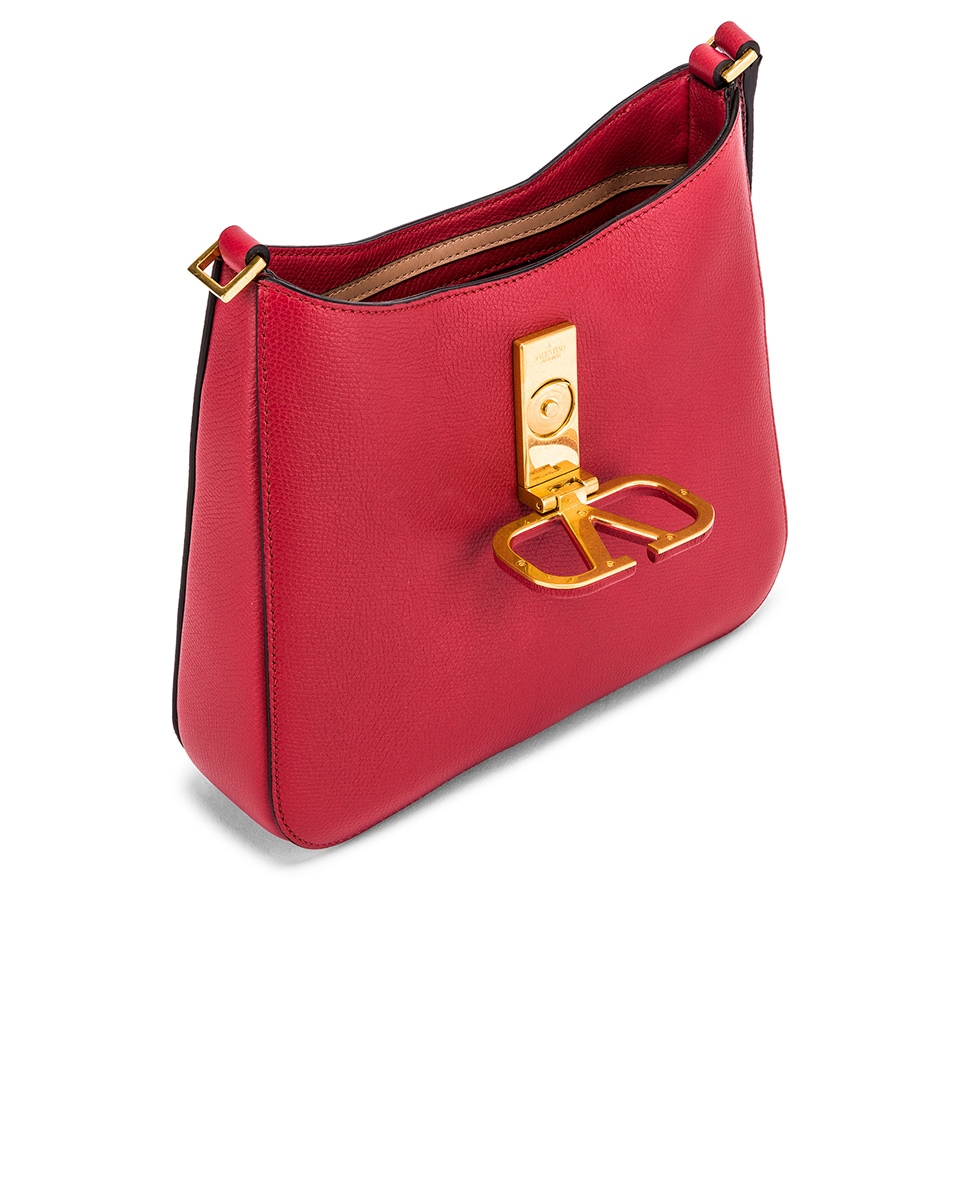 Image 5 of Valentino Small VSling Hobo Bag in Rock Pink & Rose Cannelle