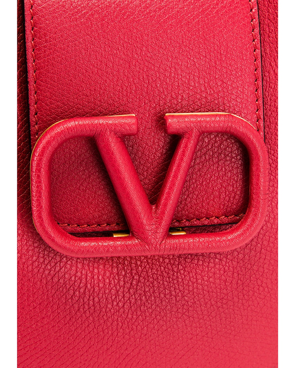 Image 8 of Valentino Small VSling Hobo Bag in Rock Pink & Rose Cannelle