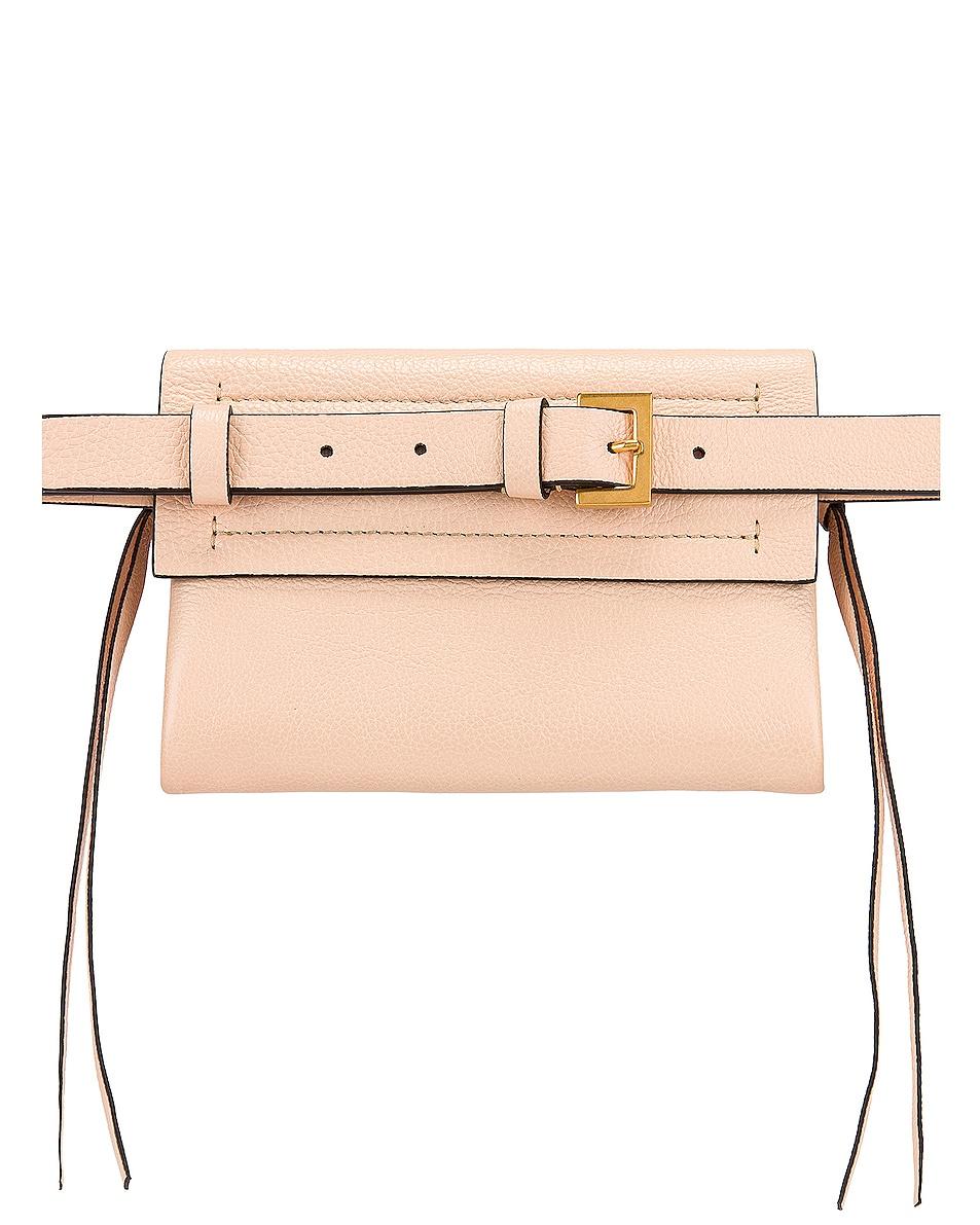 Image 3 of Valentino VRing Ribbon Belt Bag in Crema