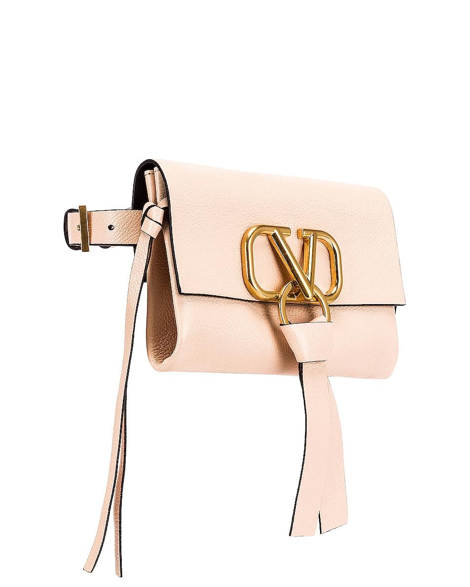 Image 4 of Valentino VRing Ribbon Belt Bag in Crema