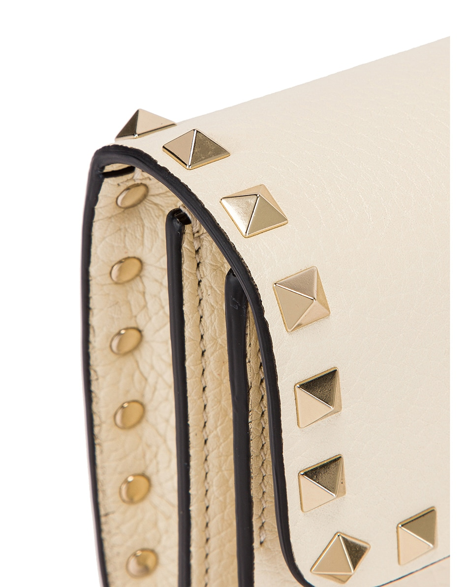 Image 8 of Valentino Rockstud Flap Crossbody Bag in Light Ivory