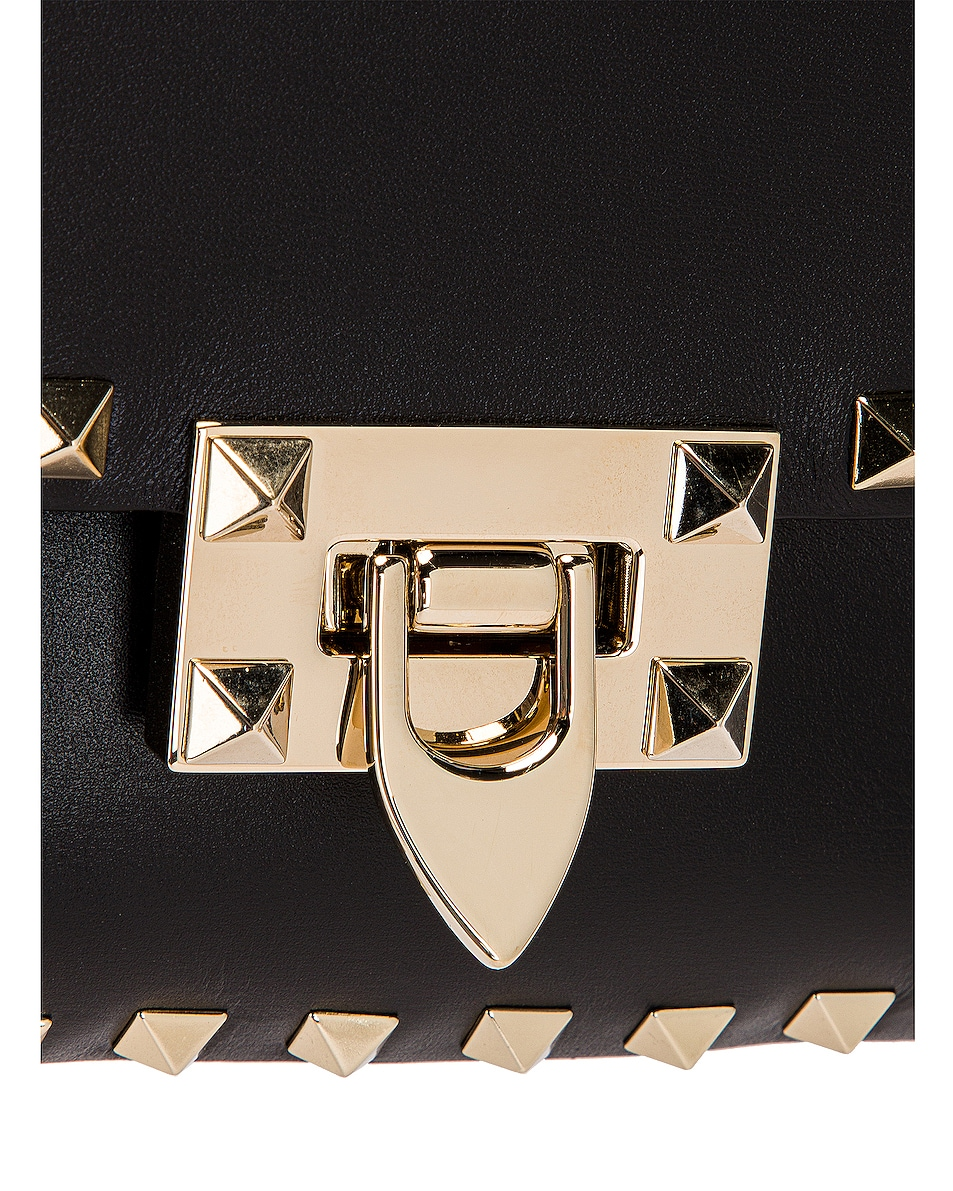 Image 8 of Valentino Small Rockstud Shoulder Bag in Black