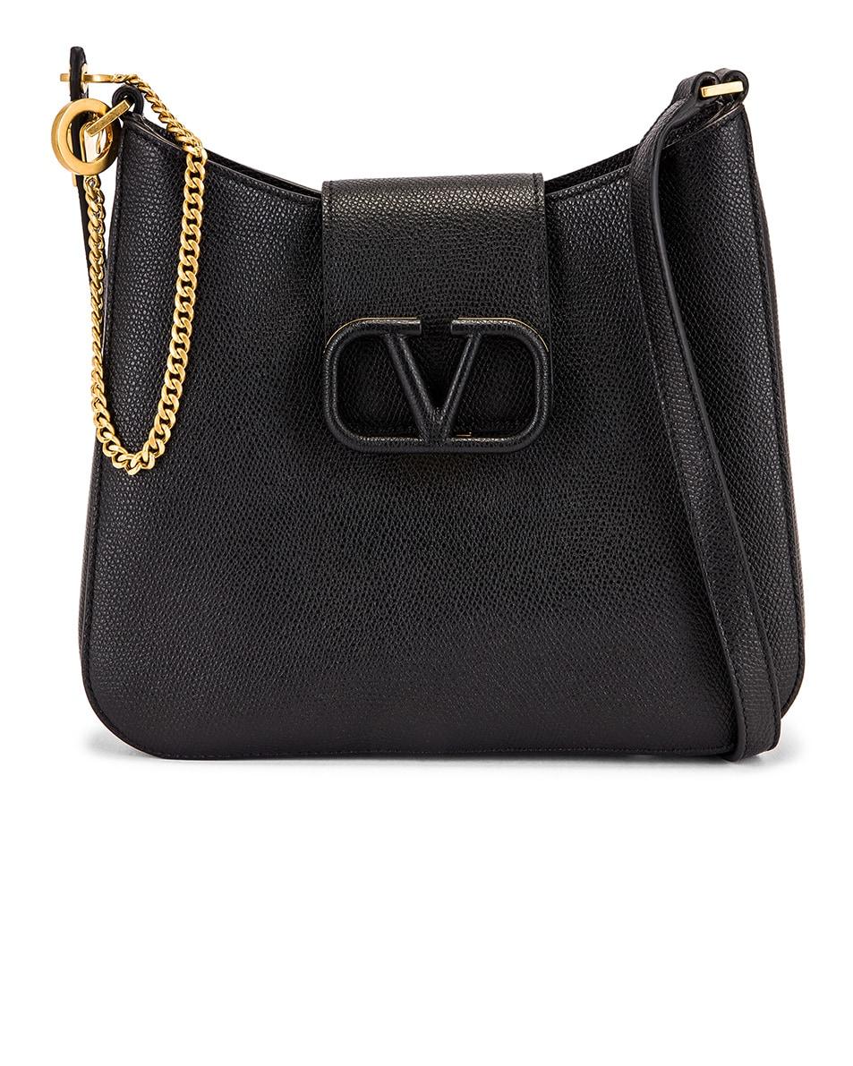 Image 1 of Valentino Small VSling Hobo Bag in Black
