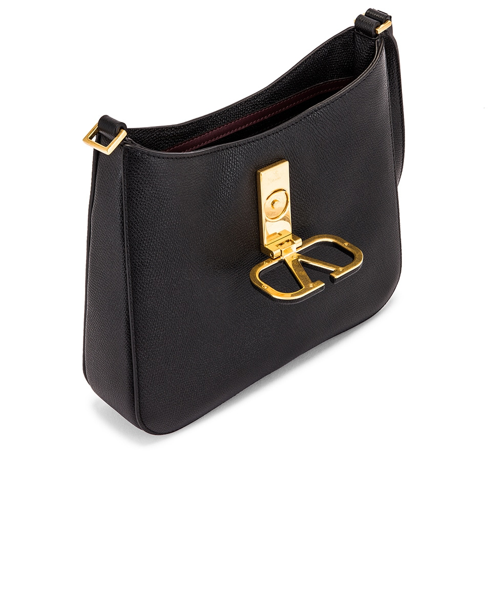Image 5 of Valentino Small VSling Hobo Bag in Black