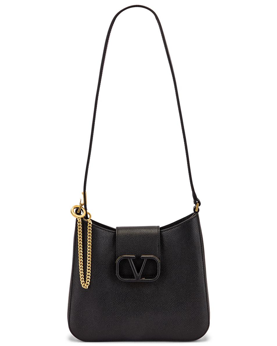 Image 6 of Valentino Small VSling Hobo Bag in Black