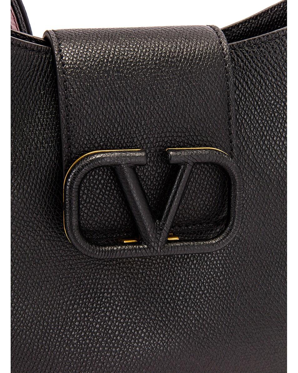 Image 8 of Valentino Small VSling Hobo Bag in Black