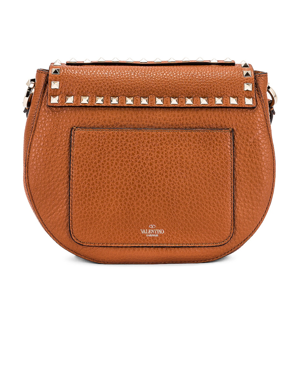 Image 3 of Valentino Small Rockstud Saddle Bag in Selleria