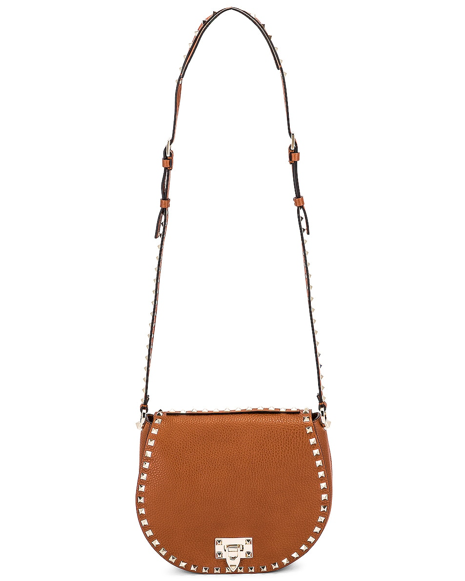 Image 6 of Valentino Small Rockstud Saddle Bag in Selleria