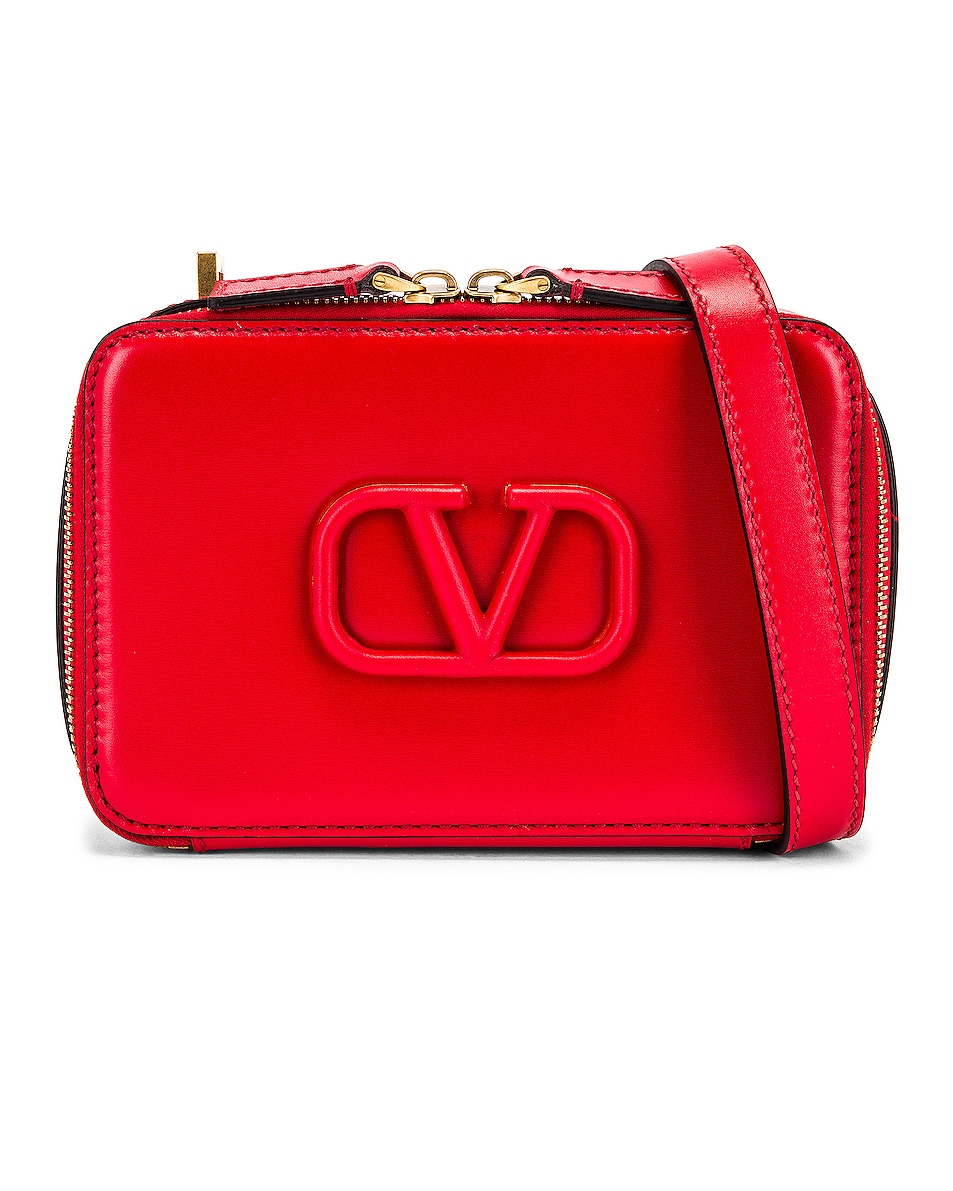 Image 1 of Valentino Small VSling Crossbody Bag in Rouge Pur