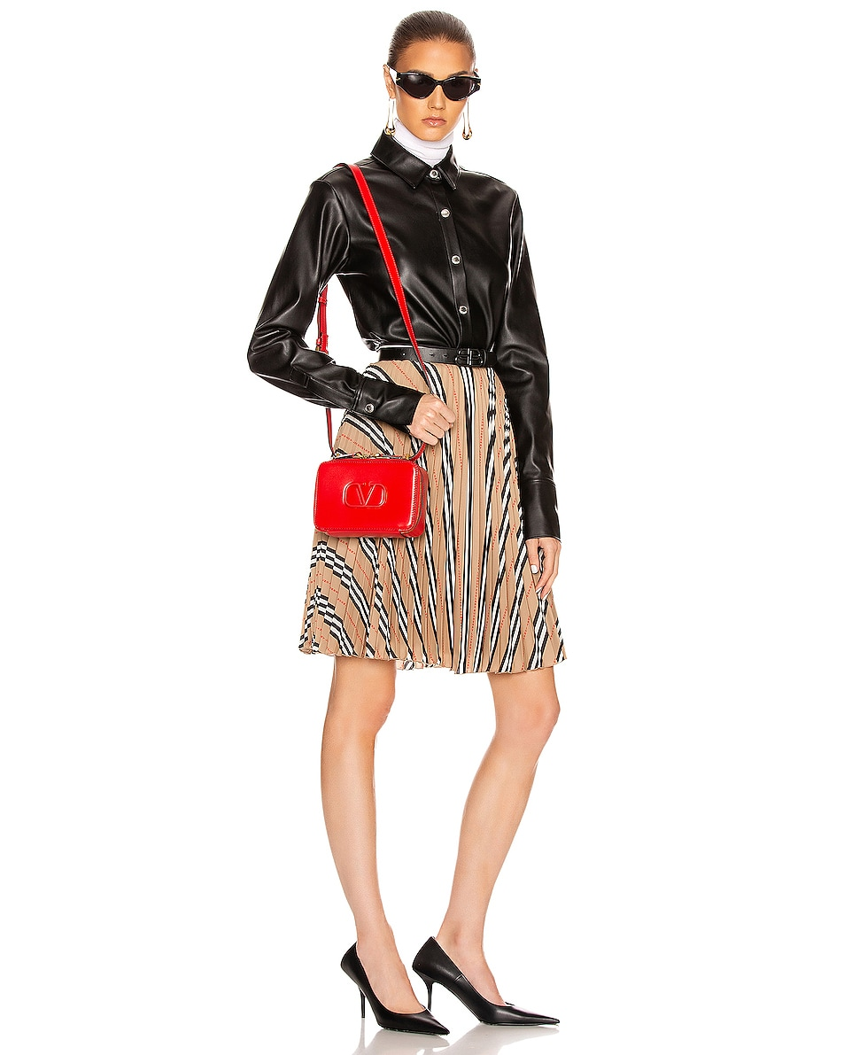 Image 2 of Valentino Small VSling Crossbody Bag in Rouge Pur